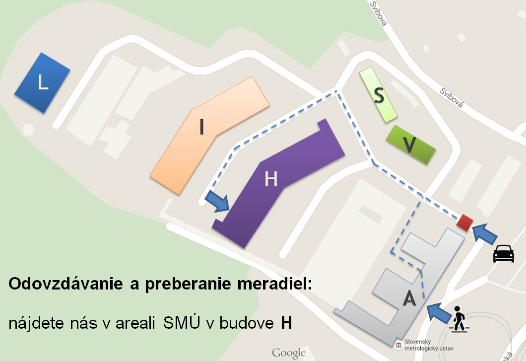 mapa arealu SMU